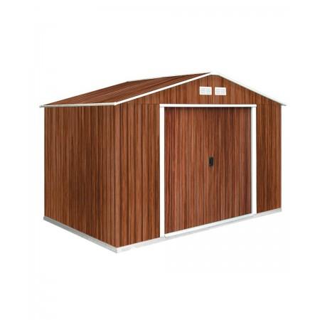 capannone in metallo 3,2x2,40 mt. colore del legno