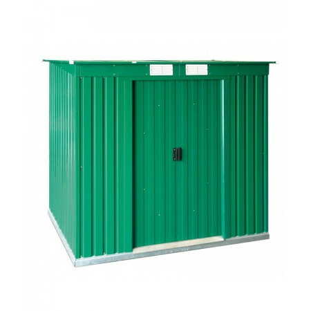 caseta metalica 2,03x1,24 mtrs. color verde