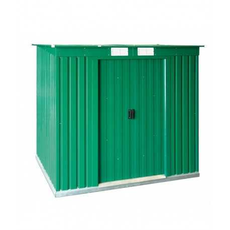 caseta metalica 2,03x1,24 mtrs. color verde