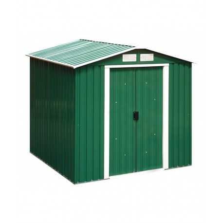 caseta metalica 2x1,21 mtrs. color verde