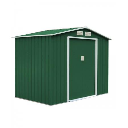 capannone in metallo titan 2,6x1,82 mt. colore verde