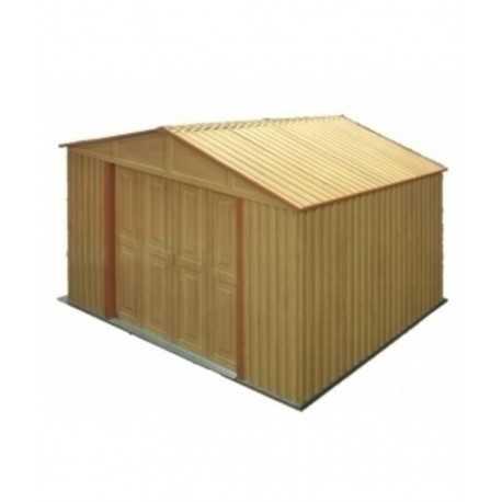 caseta de pvc de 2,4x1,6 mtrs imitacion madera