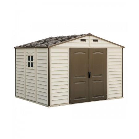 caseta duramax pvc de 325x246cm incluye estructura suelo color marfil/marron