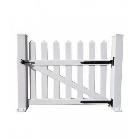 cancello semplice in pvc per recinzione 100cm x 80cm colore bianco
