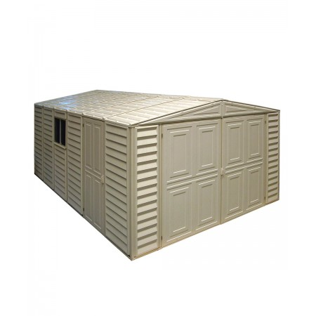 garaje pvc 10x15 color marfil sin kit suelo