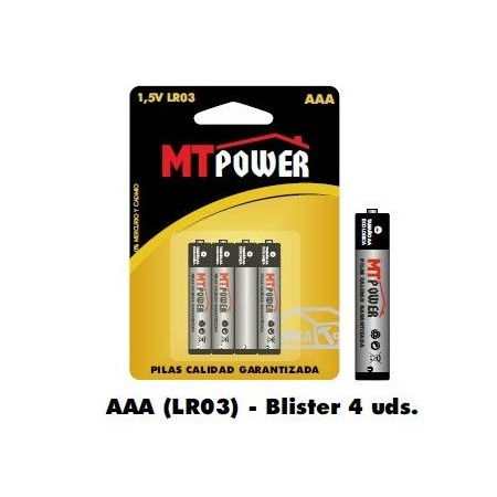 Pila Alcalina Power AAA (Blister 4 unidades)