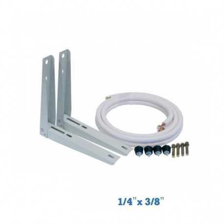 "Airconditioning installatie kit 1/4 ""-3/8"" tot 2800w"
