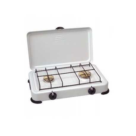 Cocina gas 2 quemadores con tapa