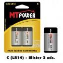 Pila Alcalina Power C (Blister 2 unidades)