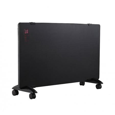 Convettore digitale LED Pannello in vetro nero 750W-1500W