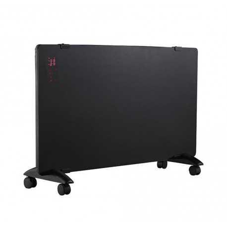 Digitale convector LED Glaspaneel zwart 750W-1500W