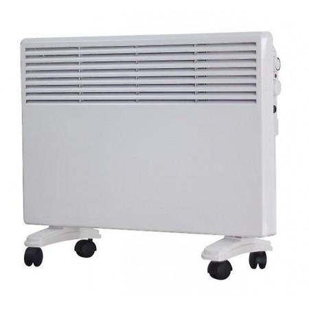 Termoconvettore digitale led pannello in vetro bianco 750w-1500w