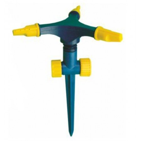 Aspersor pincho rotativo 3 brazos plástico