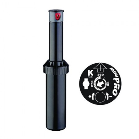"Aspersor KRain Minipro. Alcance 5,1 a 9,1 mts. Rosca 1/2"" hembra"