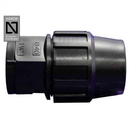 Enlace rosca Hembra PE 90mm