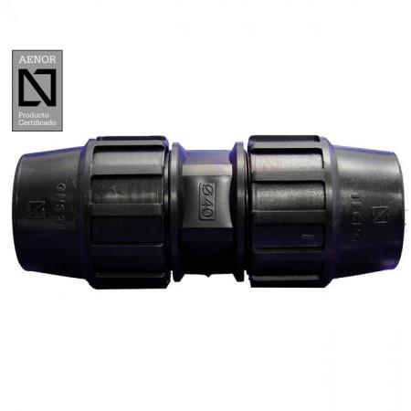 Enlace recto PE 90mm