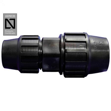Enlace recto reducido PE 75mm - 63mm
