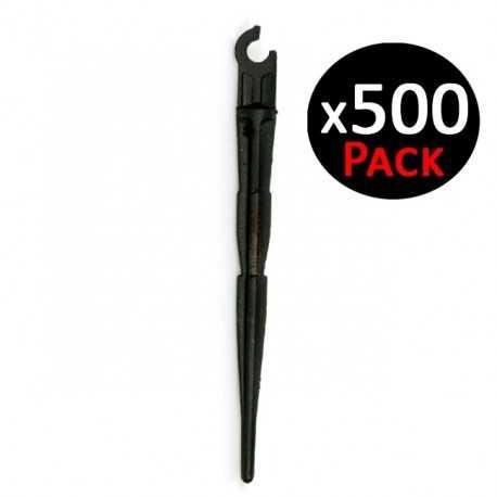 Estaca goteo sujeción microtubo 5-6mm. 500 unidades