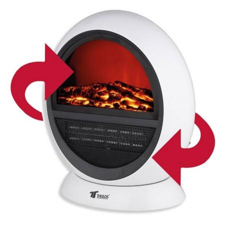 Calefactor portátil tipo Chimenea eléctrica oscilante
