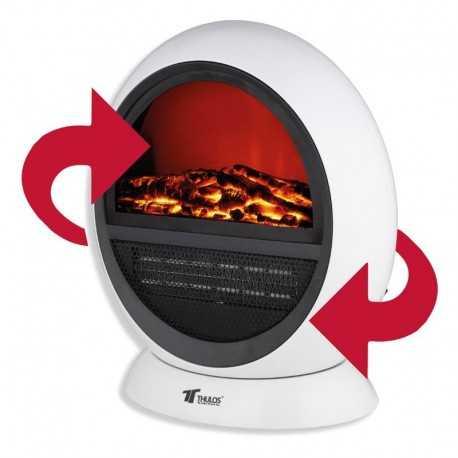 Calefactor portátil tipo Chimenea eléctrica THULOS TH-CY01