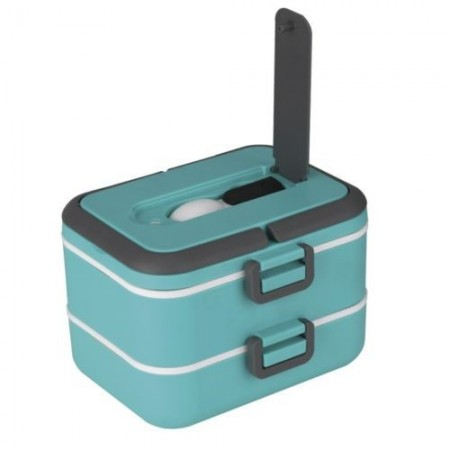 Dubbele Lunchbox 1,50L Thulos TH-LB1500 Groen